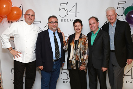 Chef Andre Marrero, Richard Frankel, Lynn Ahrens, Stephen Flaherty and Tom Viertel