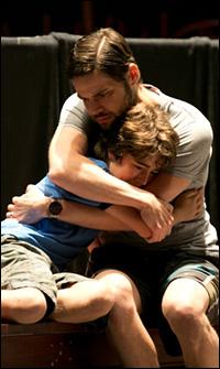 Aidan Gemme and Jeremy Jordan in rehearsal