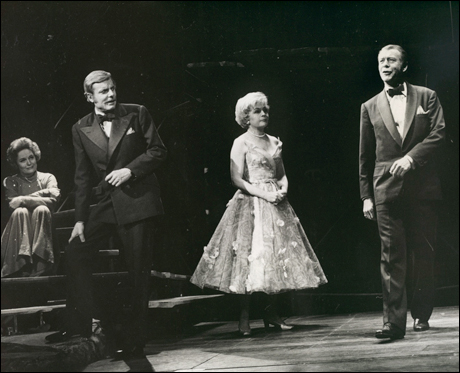 Alexis Smith, John McMartin, Dorothy Collins and Gene Nelson the original Broadway production, 1971.