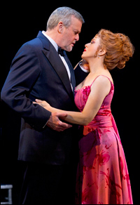 Ron Raines and Bernadette Peters in <i>Follies</i>.