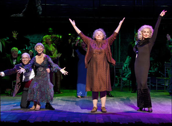 Don Correia, Susan Watson, Jayne Houdyshell and Mary Beth Peil in Follies, nominated for Best Musical Revival
