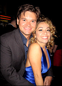 Hunter Foster with wife Jennifer Cody