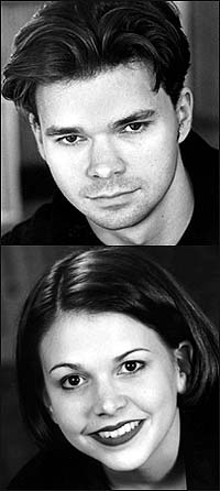 Hunter (top) and Sutton Foster
