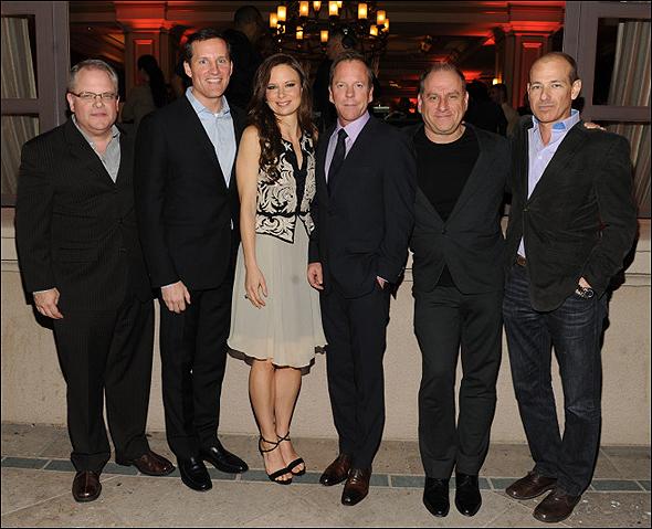Manny Canto, Joe Earley, Mary Lynn Rajskub, Kiefer Sutherland, Evan Katz and Howard Gordon
