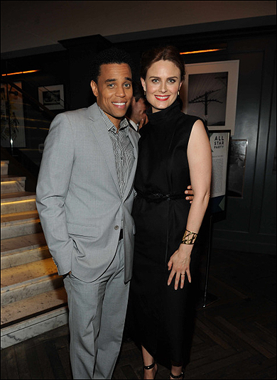 Michael Ealy and Emily Deschanel