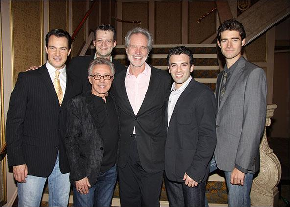 Matt Bogart, Jeremy Kushnier, Frankie Valli, Bob Gaudio, Jarrod Spector and Drew Gehling