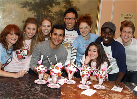 The cast of Freckleface Strawberry