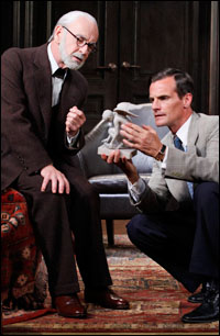 Martin Rayner and Mark H. Dold in <I>Freud's Last Session</I>.