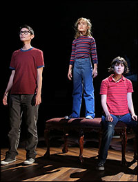 Beth Malone, Sydney Lucas and Alexandra Socha in <i>Fun Home</i>