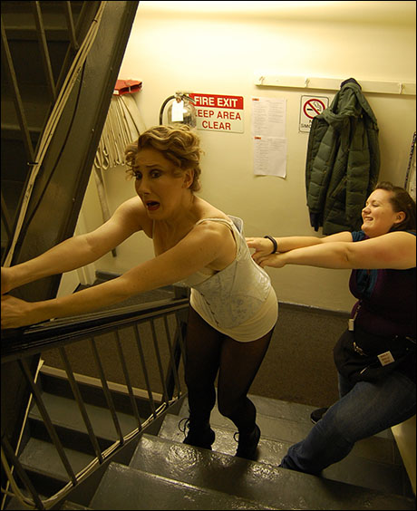 Unfortunately, Aimee has decided to try to kill Joanna via death-by-corset.