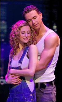 Caissie Levy and Richard Fleeshman in the London production