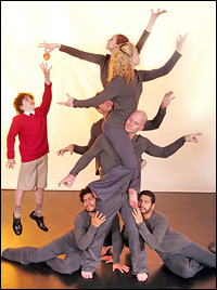 Justin Lawrence Hall and Pilobolus dancers