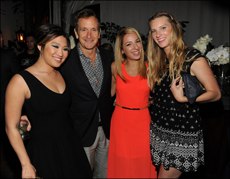 Jenna Ushkowitz, Vanessa Lengies and Heather Morris with Executive Producer Dante Di Loreto