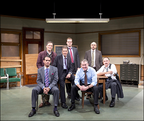Back: Jeremy Shamos, David Harbour, Richard Schiff and Murphy GuyerFront: Bobby Cannavale, Al Pacino and John C. McGinley