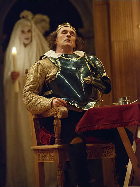 Mark Rylance with Angus Wright in Richard III