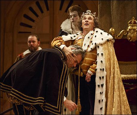 Angus Wright and Mark Rylance in Richard III