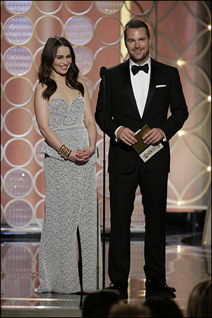 Emilia Clarke and Chris O'Donnell