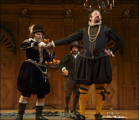 Colin Hurley, Jethro Skinner and Stephen Fry in Twelfth Night