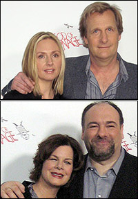 Hope Davis with Jeff Daniels; Marcia Gay Harden with James Gandolfini