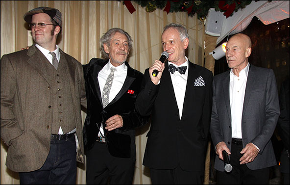 Shuler Hensley, Ian McKellen, Sean Mathias and Patrick Stewart
