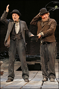 Patrick Stewart and Ian McKellen in <i>Waiting for Godot</i>.