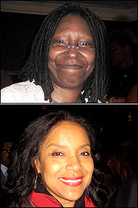 Whoopi Goldberg and Phylicia Rashad