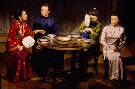 Kim Miyori, Randall Duk Kim, Tsai Chin and Ming-Na Wen in Golden Child, 1998