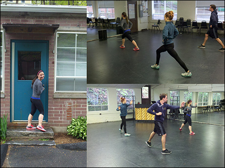 Chelsea Morgan Stock is a real knockout offstage too. Here she leads a workout with Ross Lekites and Jessi Trauth.