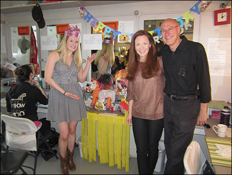 Best Birthday gift is employment - or a pinata, take your pick (Lauren Sprague, Lindsay O'Neil and the great Riccucci)