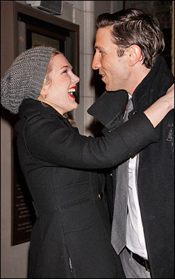 Lily Rabe and Pablo Schreiber