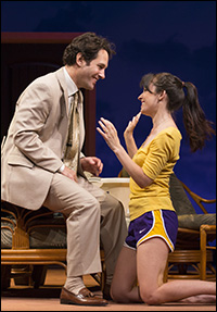 Paul Rudd and  Kate Arrington in <i>Grace</i>, one of the shows canceling performances on Election Day.