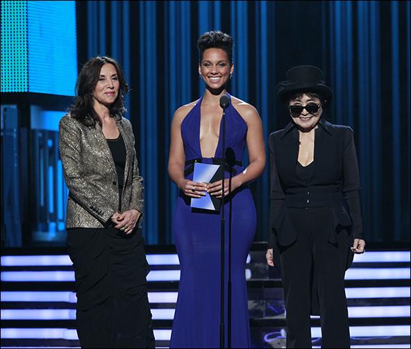 Barbara Bach, Alicia Keys and Yoko Ono