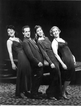 Victoria Clark, Jason Graae, Lynne Wintersteller and Alyson Reed in A Grand Night for Singing, 1993