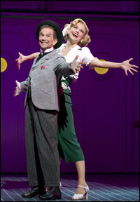 Joel Grey and Sutton Foster in Broadway's <i>Anything Goes</i>.