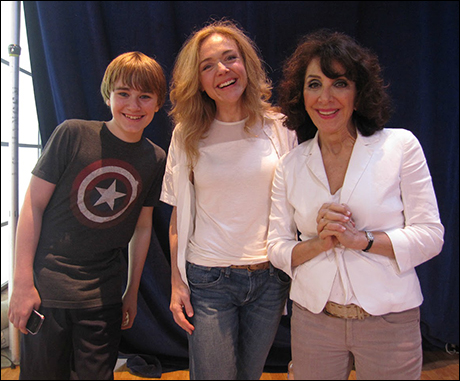 At the GMA studios!.. a bunch of smiles and laughs constantly surround this amazing company! Andrew Cekala, Rachel Bay Jones and Andrea Martin