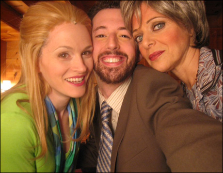 Stacie Morgain Lewis, myself and Dame Judy Blazer snap a quick shot backstage during intermission.