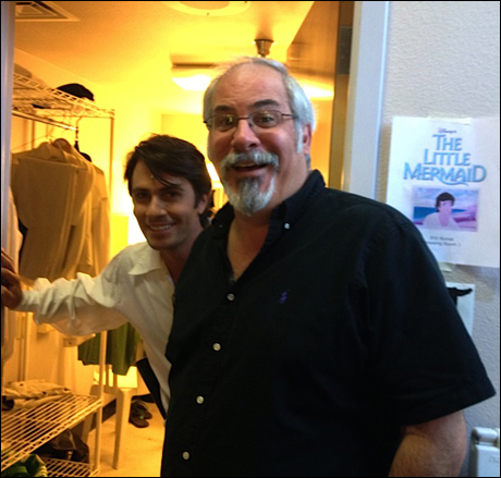 The very handsome and talented Eric Kunze (Prince Eric) and the very handsome and talented Maestro Craig Barna.