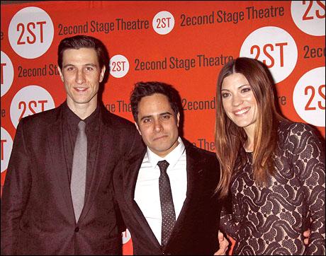 Pablo Schreiber, Rajiv Joseph and Jennifer Carpenter