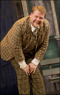 James Corden in <i>One Man, Two Guvnors</i>