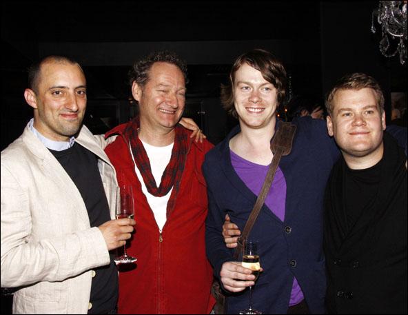 Tom Edden, Richard Bean, Daniel Rigby and James Corden
