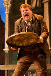 James Corden in <i>One Man, Two Guvnors</i>.