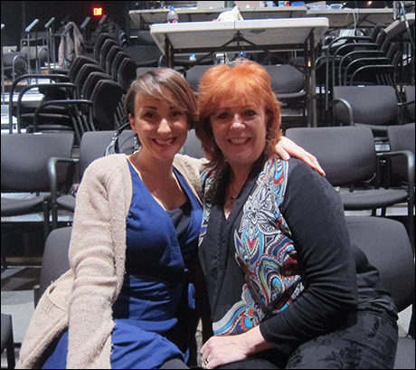 The stunning dance team: Pauline Grossman and Karma Camp!