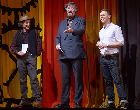 Mark Rylance, Stephen Fry and Samuel Barnett