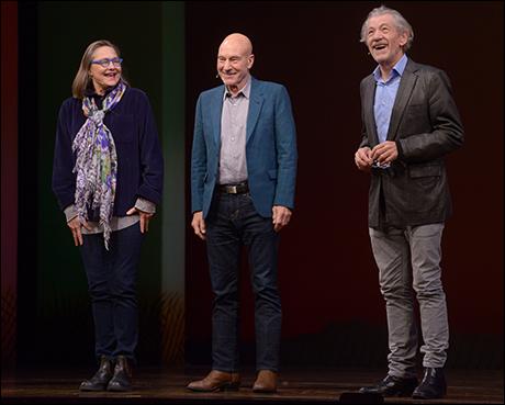 Cherry Jones, Patrick Stewart and Ian McKellen