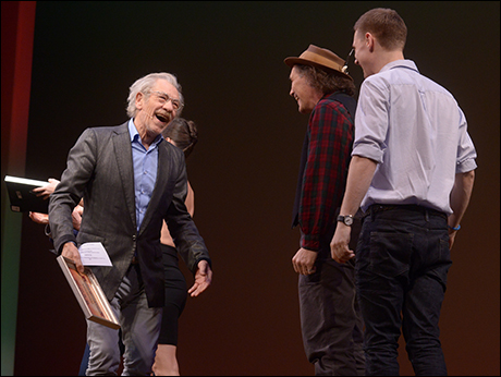 Ian McKellen, Mark Rylance and Samuel Barnett