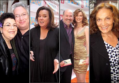 Phoebe Snow with Harvey Fierstein, Rosie O'Donnell, Frank Wildhorn with Pamela Jordan, and Diane von Furstenberg