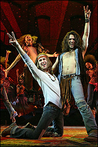 Gavin Creel and Will Swenson in <I>Hair.</I>