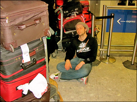 Anthony Hollock – and lots of luggage!
