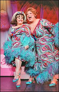 Marissa Jaret Winokur and Harvey Fierstein in <i>Hairspray</i>.