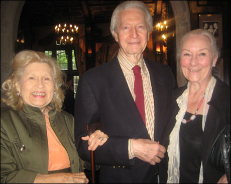 Marjorie and Elliot Martin with Rosemary Harris